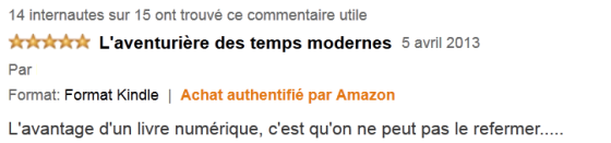 Commentaire utile