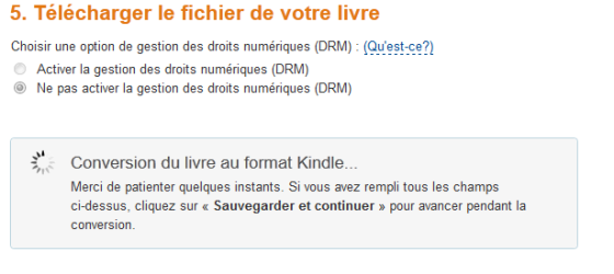 Conversion format Kindle