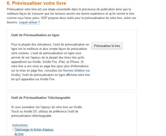 Prévisualisation Kindle