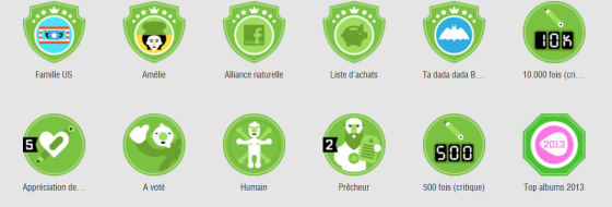 Badges SensCritique