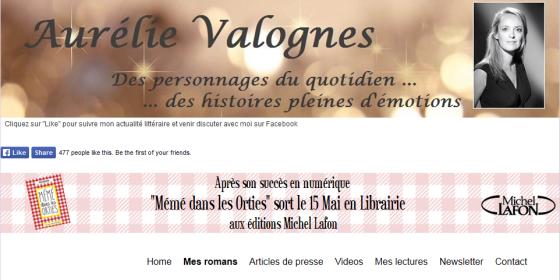 Vous pourrez en découvrir plus sur Aurélie Valognes grâce à son site internet.