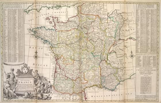 Ancienne carte de France libre de droit