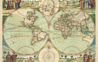 Carte du monde dans un roman