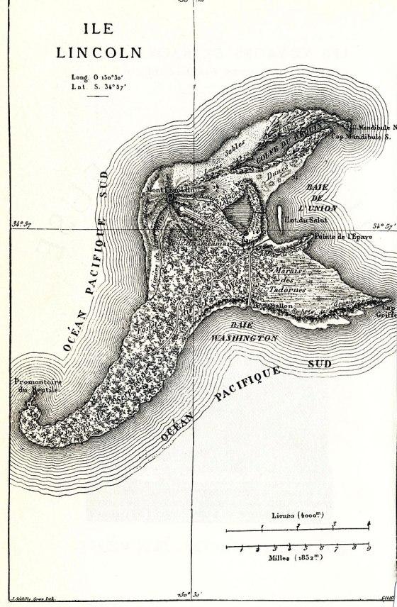 Carte Île Mystérieuse
